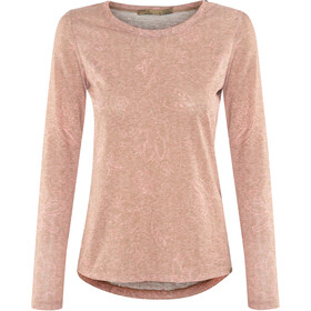 Prana Francie T-shirt zippé Femme, burnt caramel rosewood